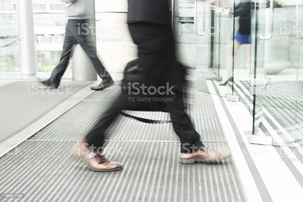 business man goto office stock photo