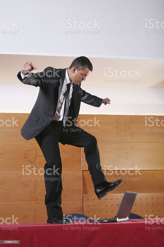 Business man had enough royalty-free stock photo