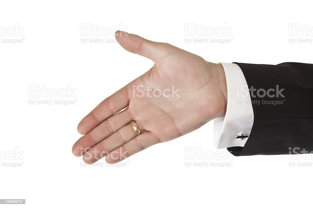 Business man hand stock photo