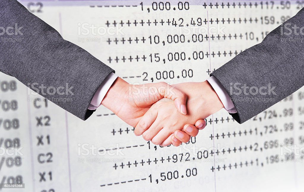 business man hand shake stock photo