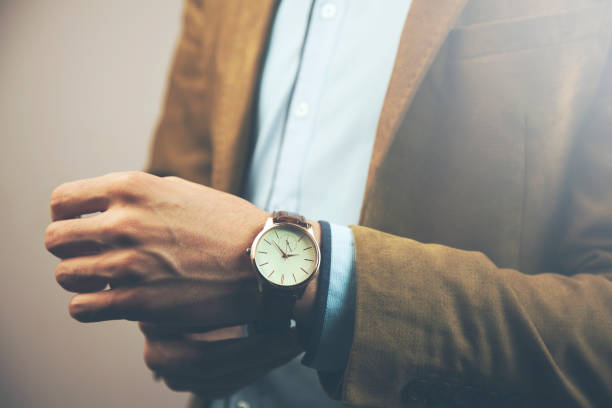 business man hand watch young business man hand elegant  and beautiful watch luxury watch stock pictures, royalty-free photos & images