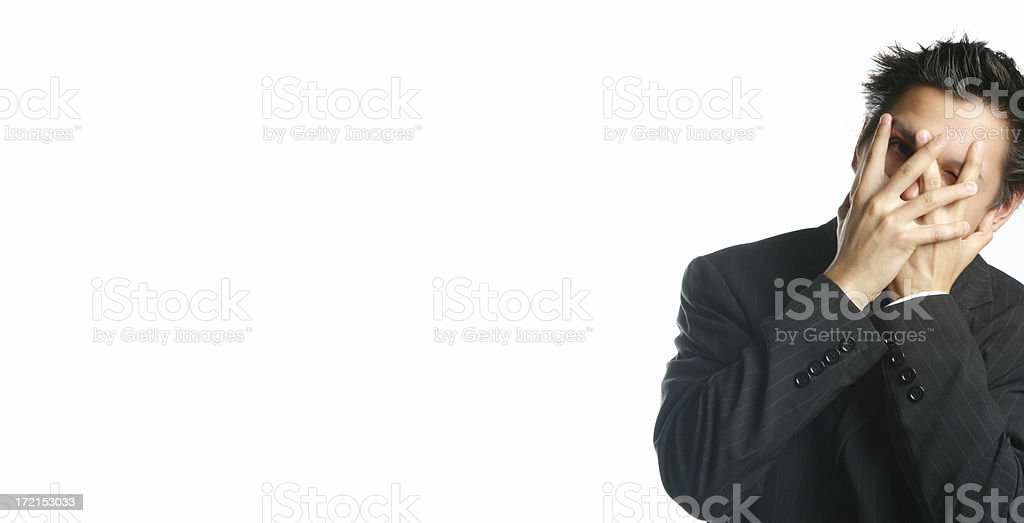 Business Man Hiding royalty-free stock photo