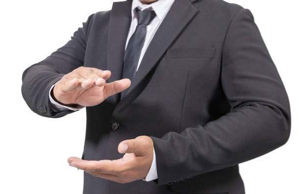 Business Man In A Suit Clapping Hands isolated on white background Business Man In A Suit Clapping Hands isolated on white background approbation stock pictures, royalty-free photos & images