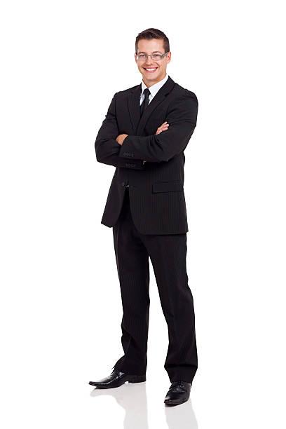 ビジネスの男性のスーツを腕の折り返し - 腕組み スーツ ストックフォトと画像