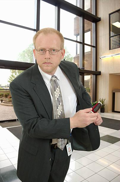 Business Man in Action stok fotoğrafı
