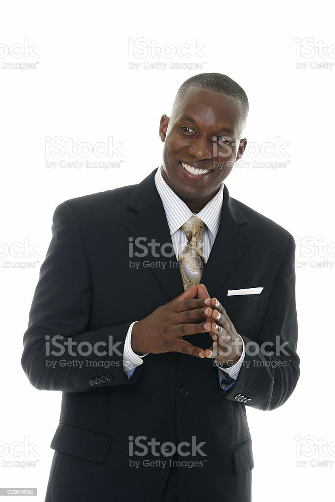 Business Man in Black Suit royalty-free stock photo