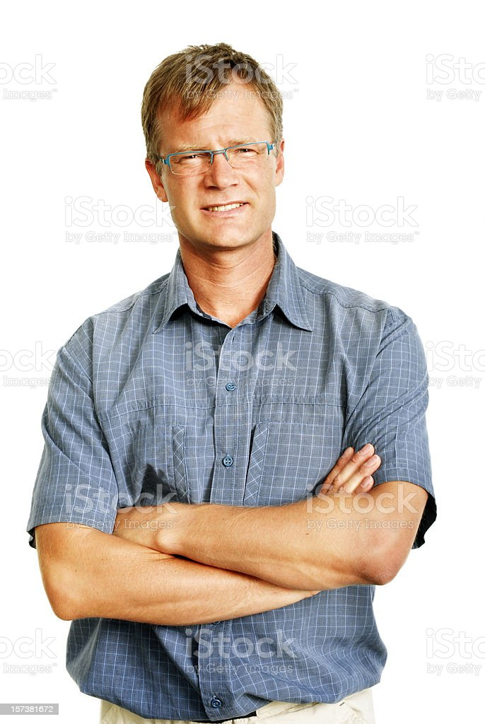 Business man in casual wear. stock photo