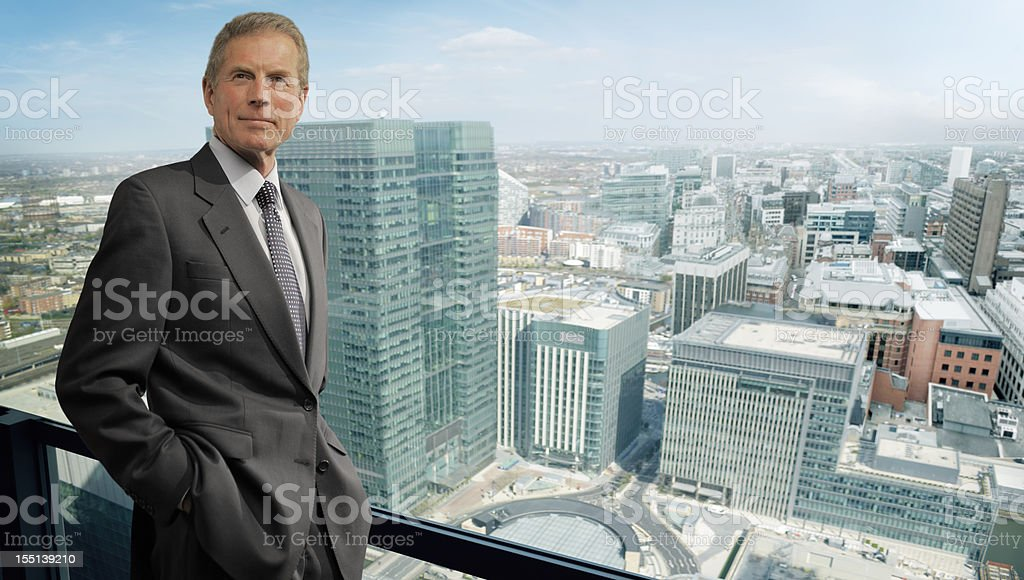 Business Man in City royalty-free stock photo