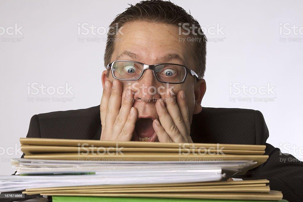 Business Mann vor Dateien – Foto