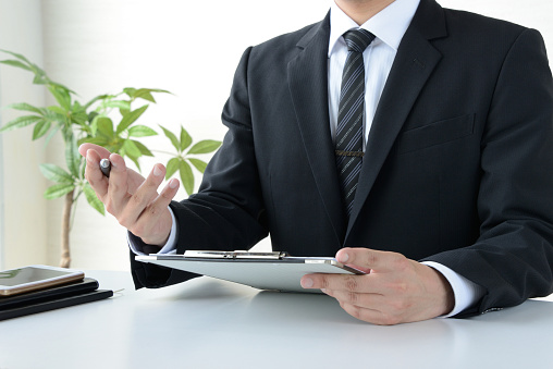 istock Business man in meeting or consulting 1021467986