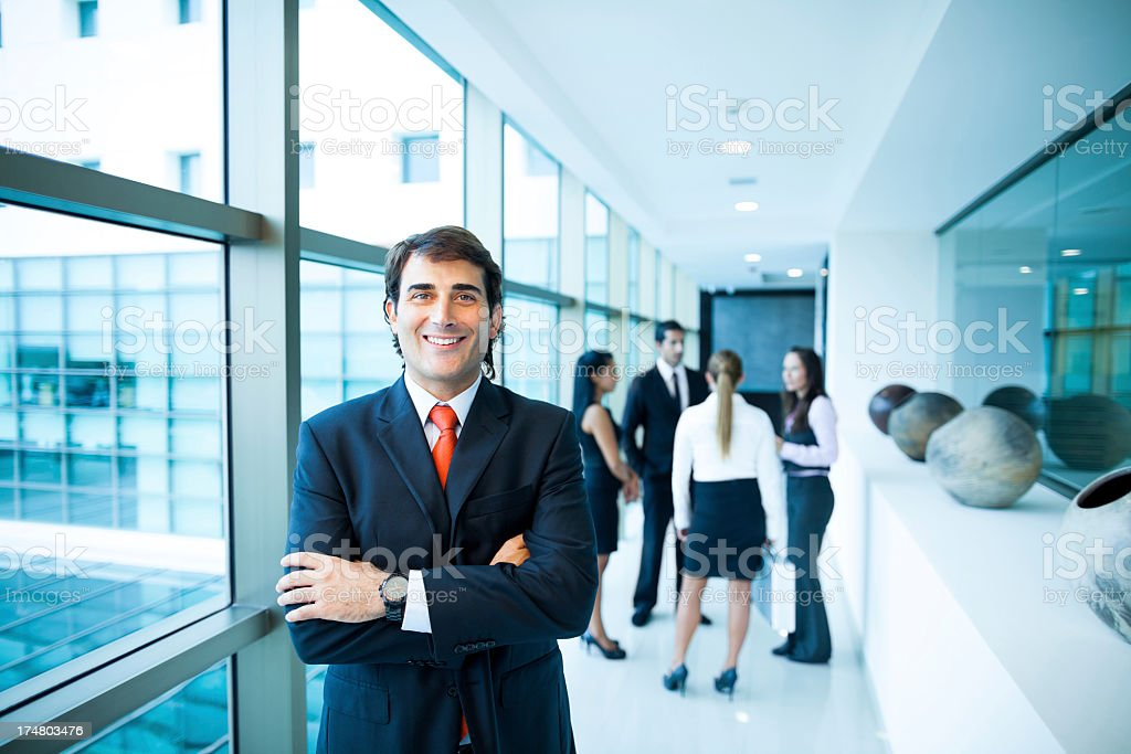 Business man in the building hall royalty-free stock photo
