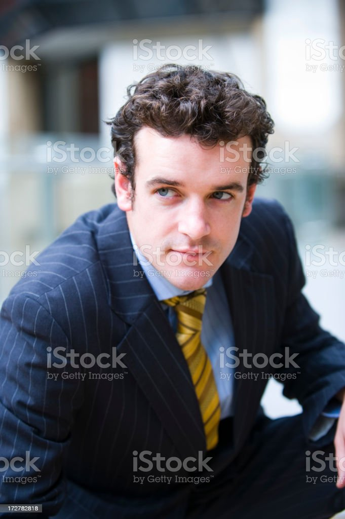 Business man in the city royalty-free stock photo