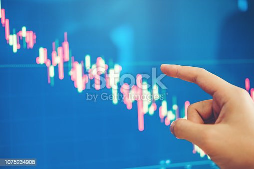 istock Business Man Investment discussing and analysis graph stock market trading,stock chart concept 1075234908