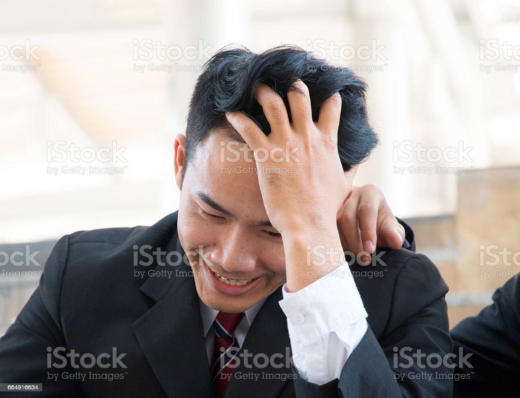Business man is having headache. foto stock royalty-free