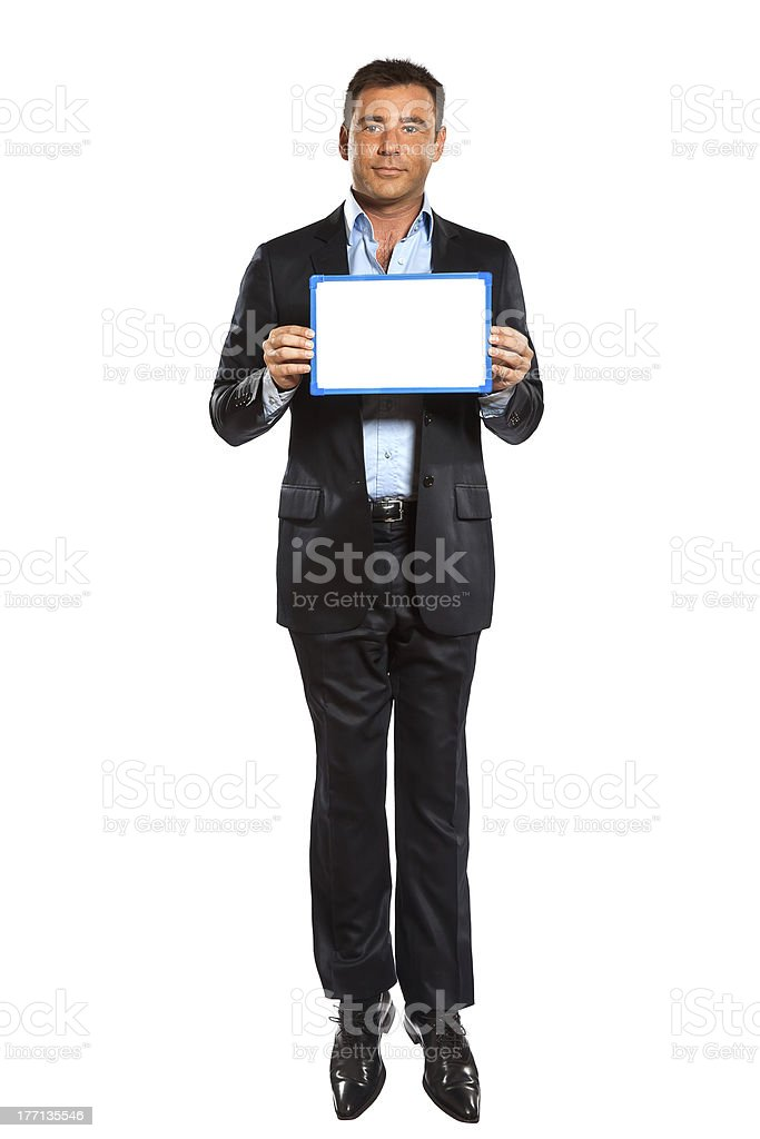 business man jumping royalty-free stock photo