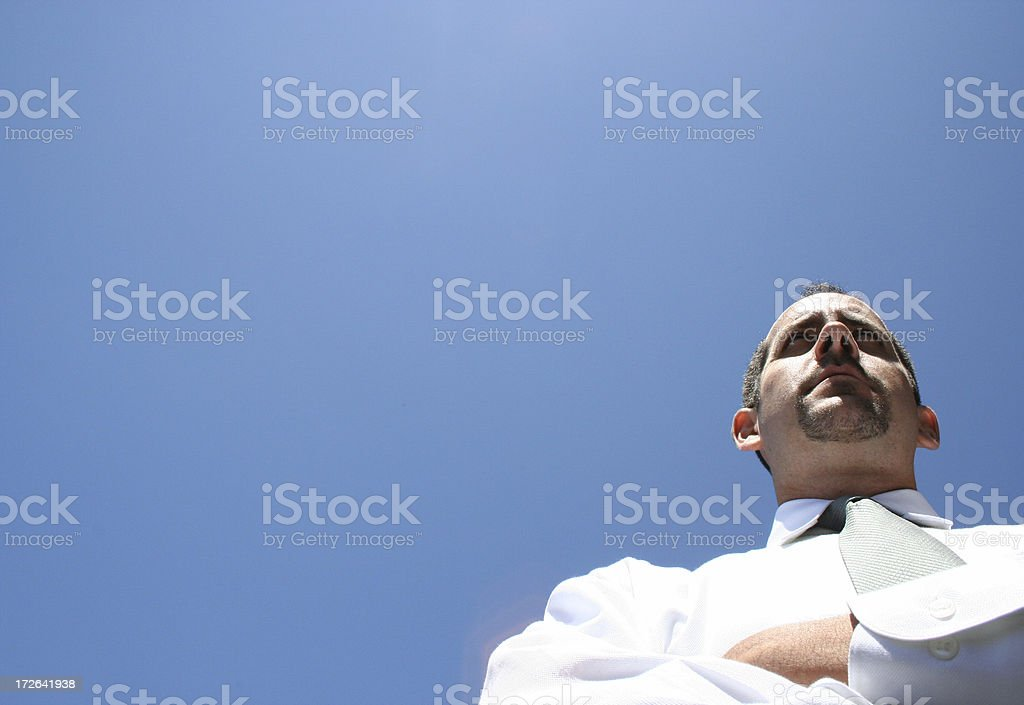 Business Man Leadership Concept royalty-free stock photo