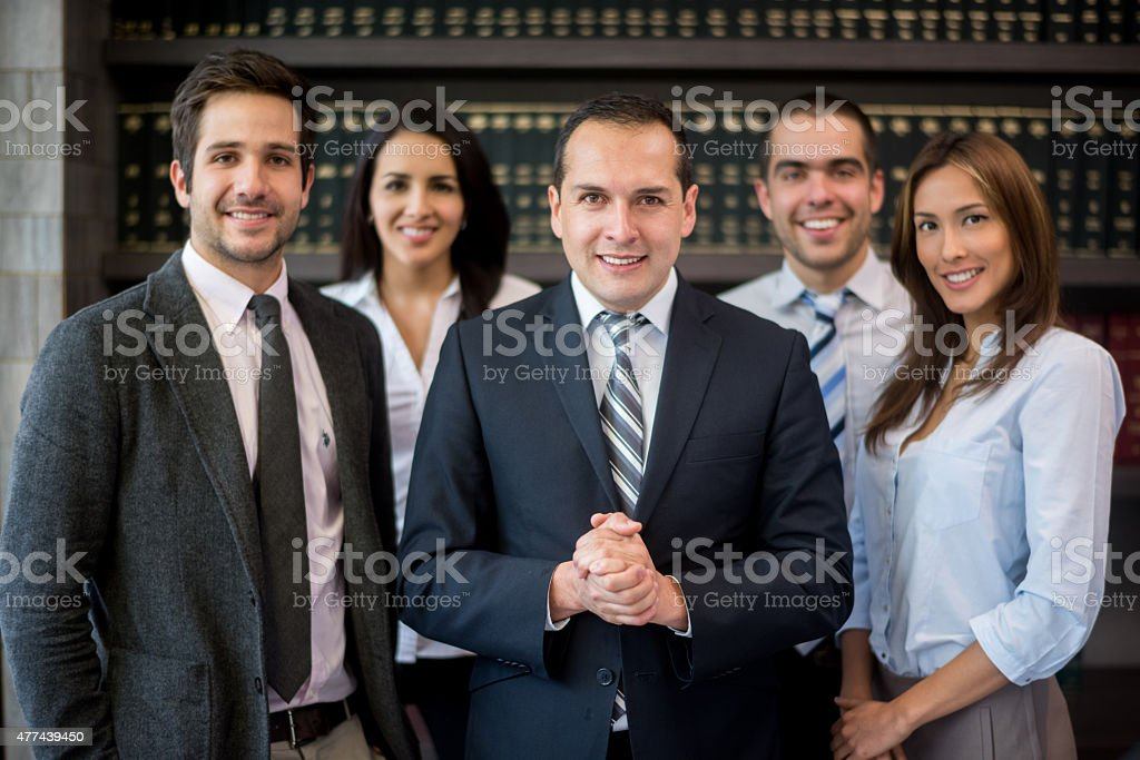 Business man leading a group stock photo