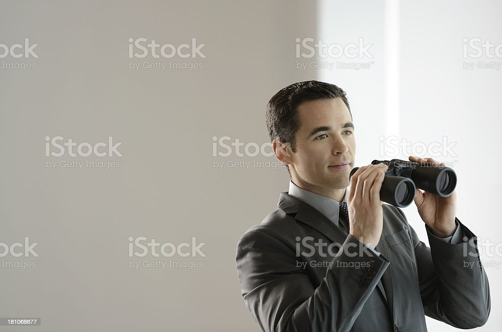 Business man looking into the future. royalty-free stock photo
