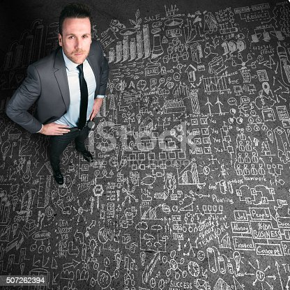 istock Business man looking over his plan 507262394