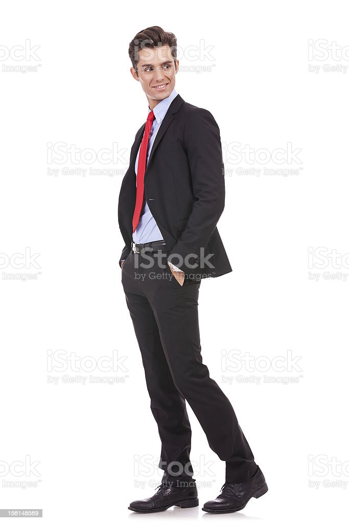 business man looking to his back royalty-free stock photo