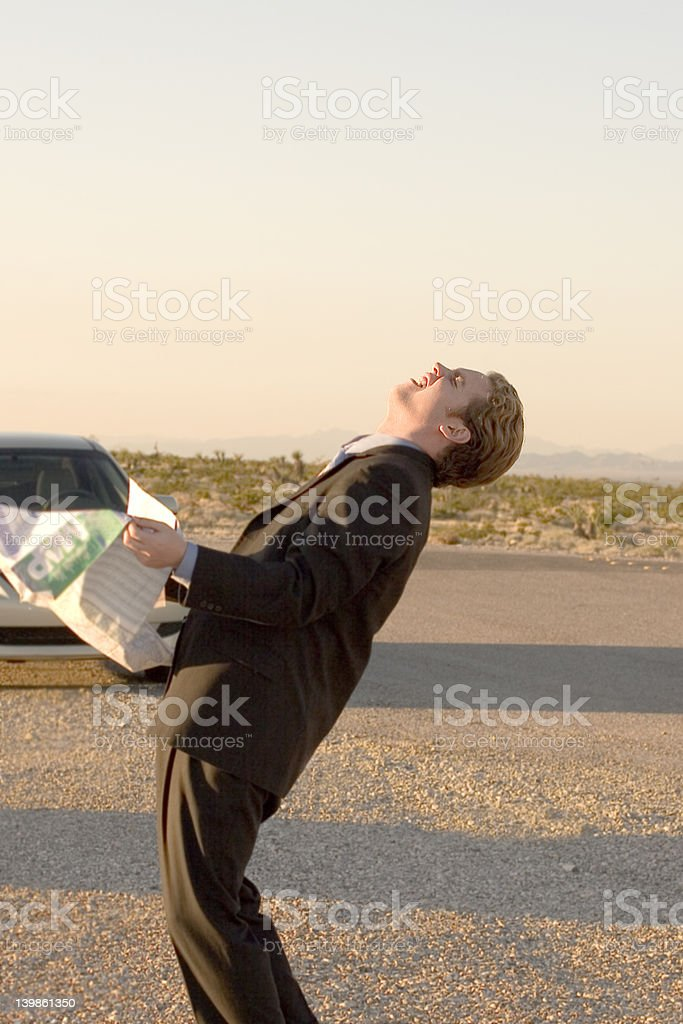 Business Man Lost royalty-free stock photo