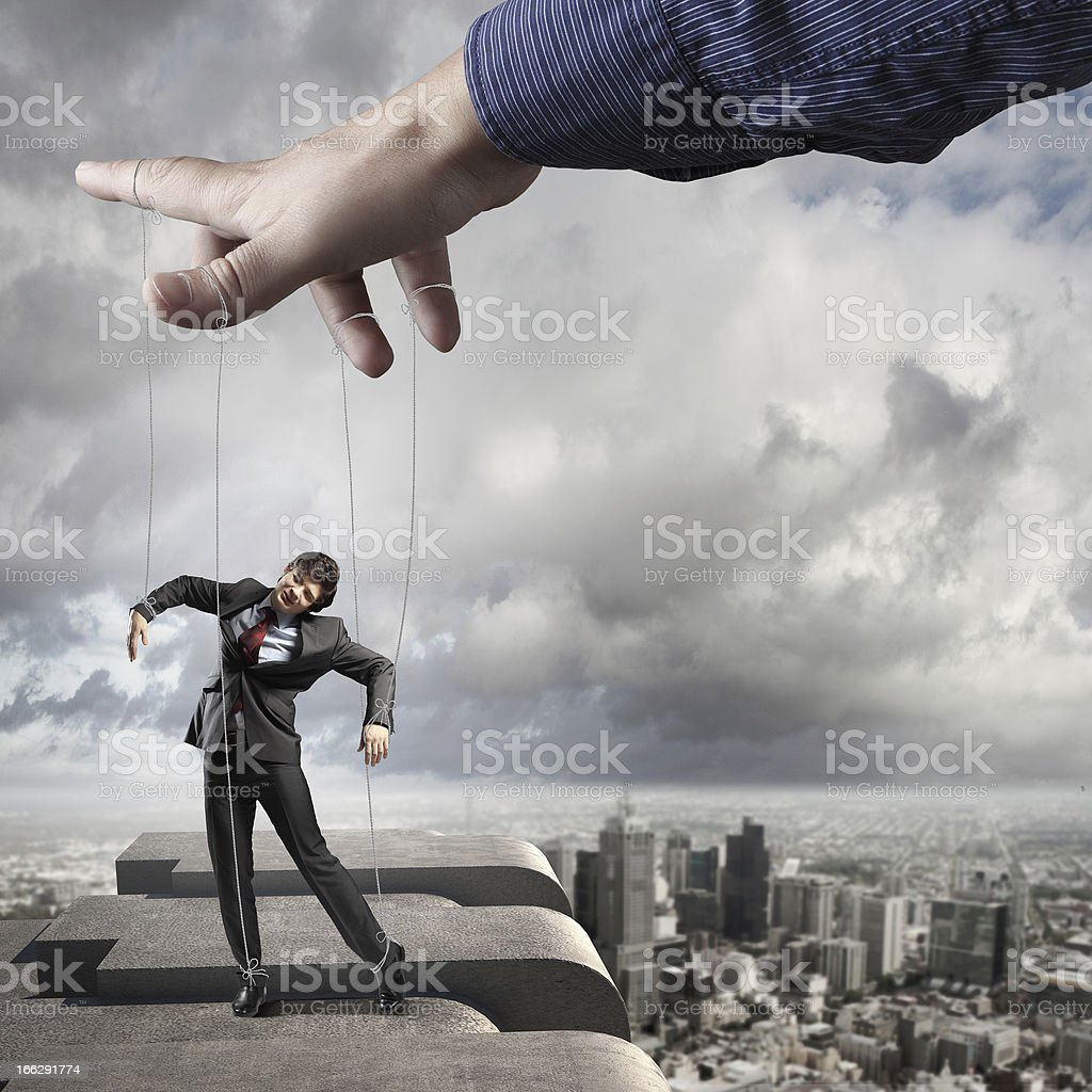 Business man marionette stock photo