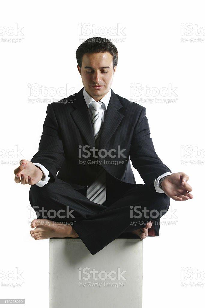 Business man - meditation royalty-free stock photo