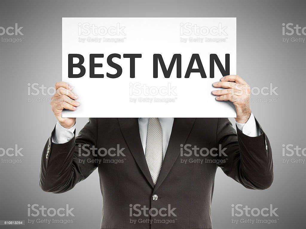 business man message stock photo