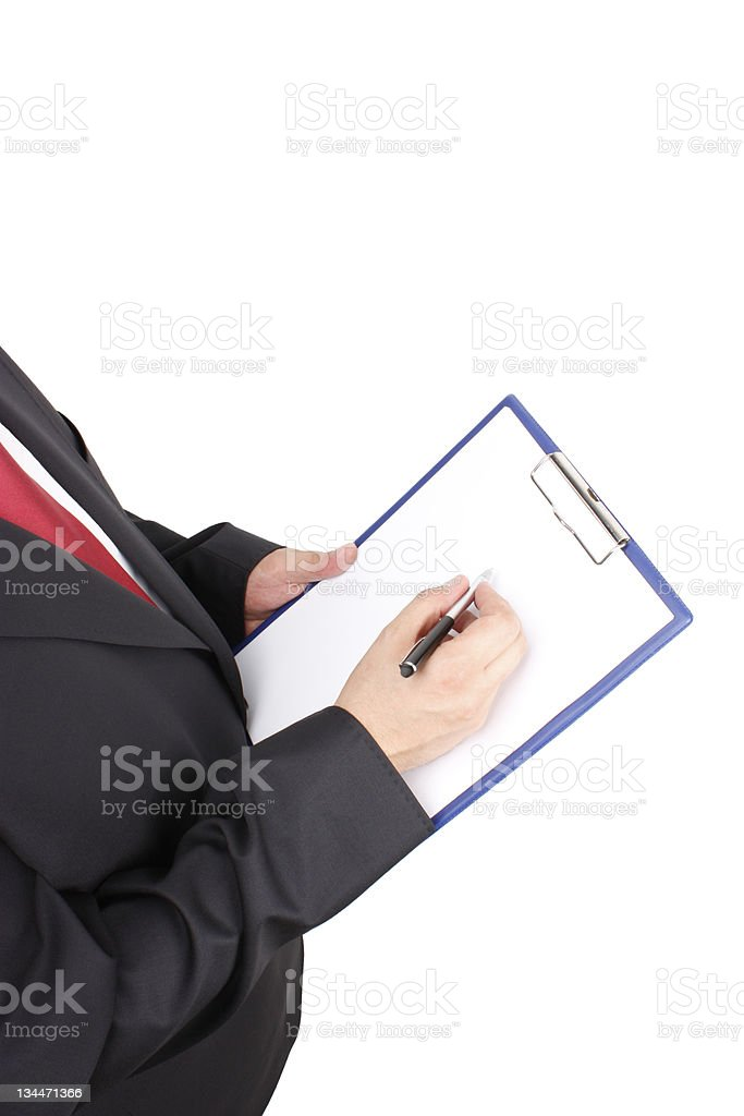 Business Man Notes royalty-free stock photo