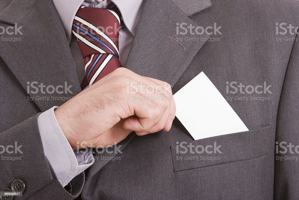 Business man offering card royalty-free stock photo