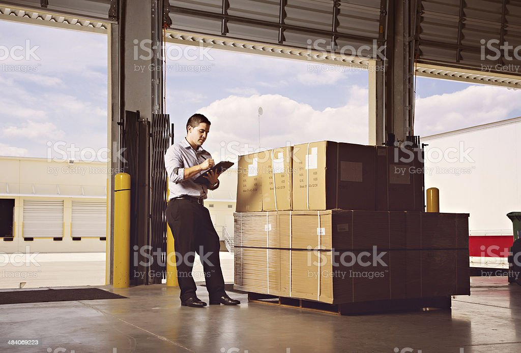 Business man on a docking bay. royalty-free stock photo