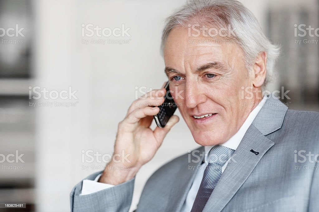 Business man on call royalty-free stock photo
