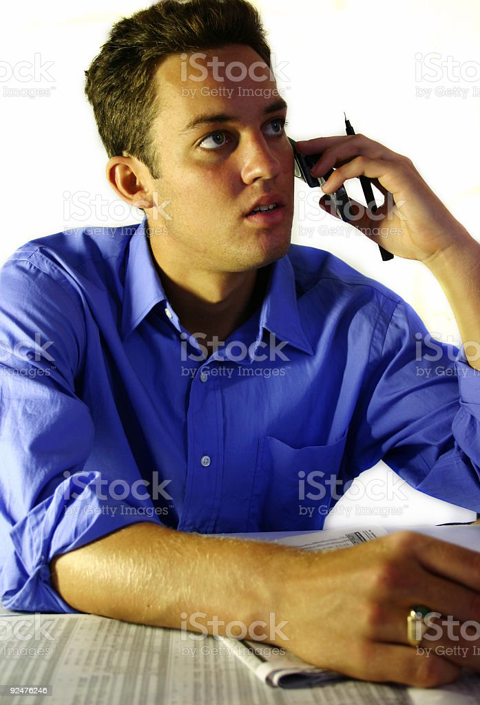 Business - Man on phone royalty-free stock photo