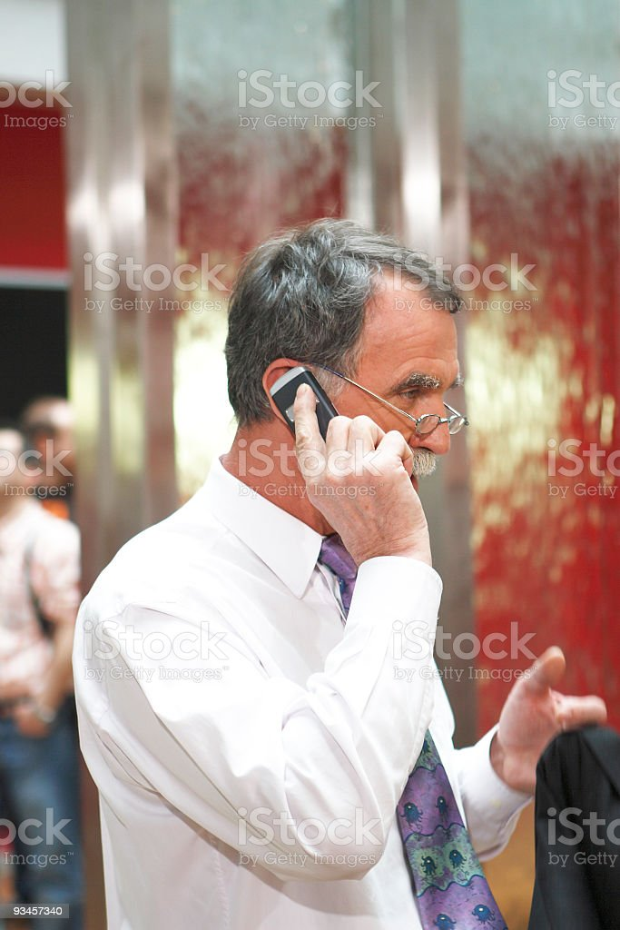 Business man on the phone stock photo