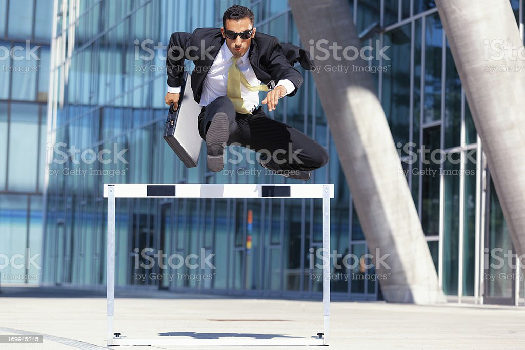 business man on the run stock photo