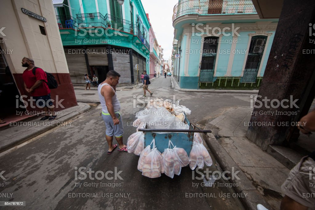 Business Man on the Street of havana, cuba stock photo