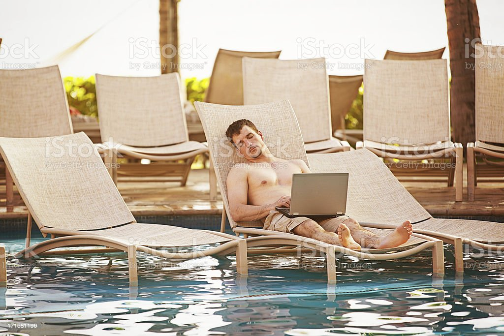 Business man on vacation royalty-free stock photo