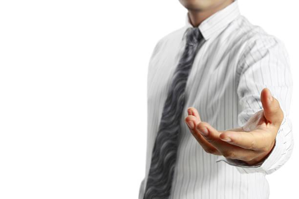 Geschäftsmann offene hand – Foto