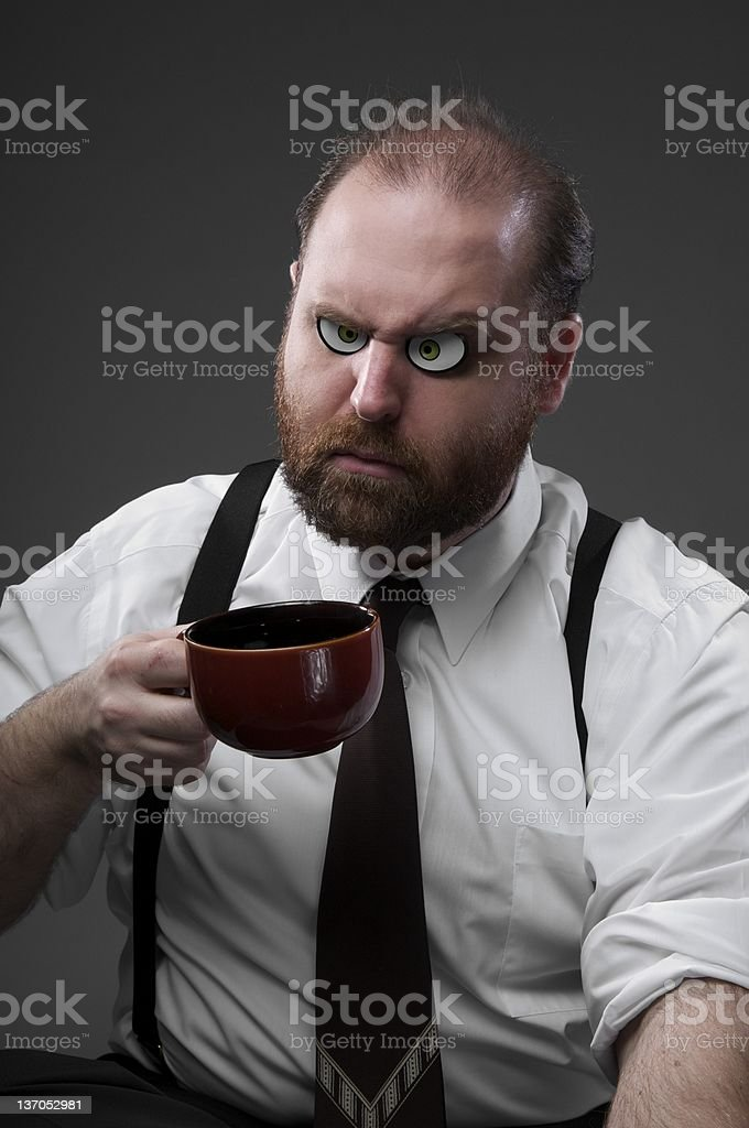 Business Man out of Coffee stock photo