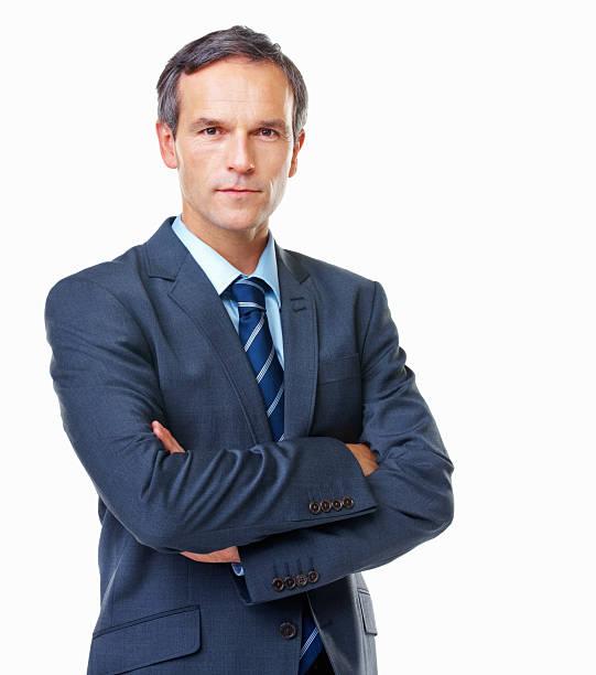ビジネスの男性 - 腕組み スーツ ストックフォトと画像