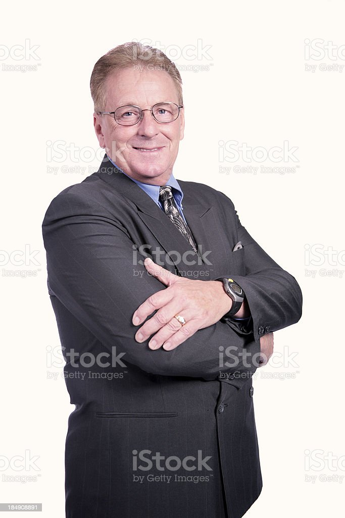 Business Man (With Glasses) royalty-free stock photo