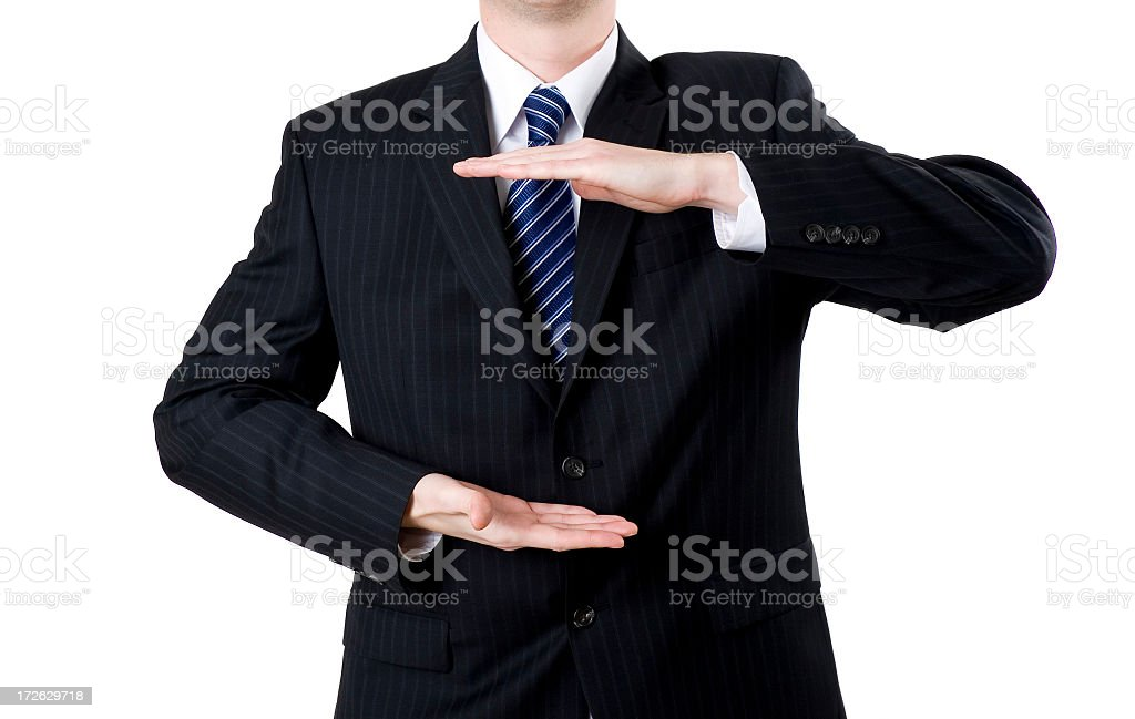 Business man presents royalty-free stock photo