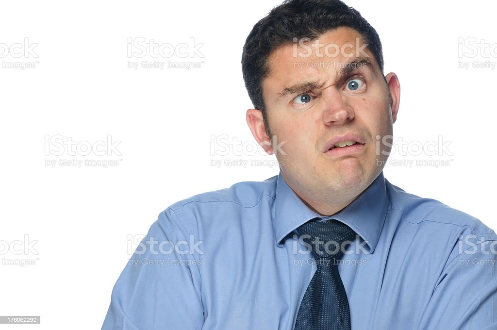 Business Man Pulling a Face royalty-free stock photo