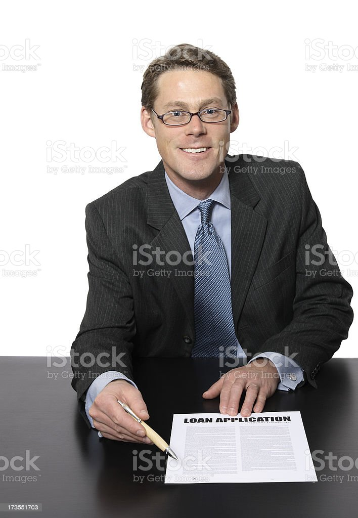 Business Man Ready for You to Sign royalty-free stock photo