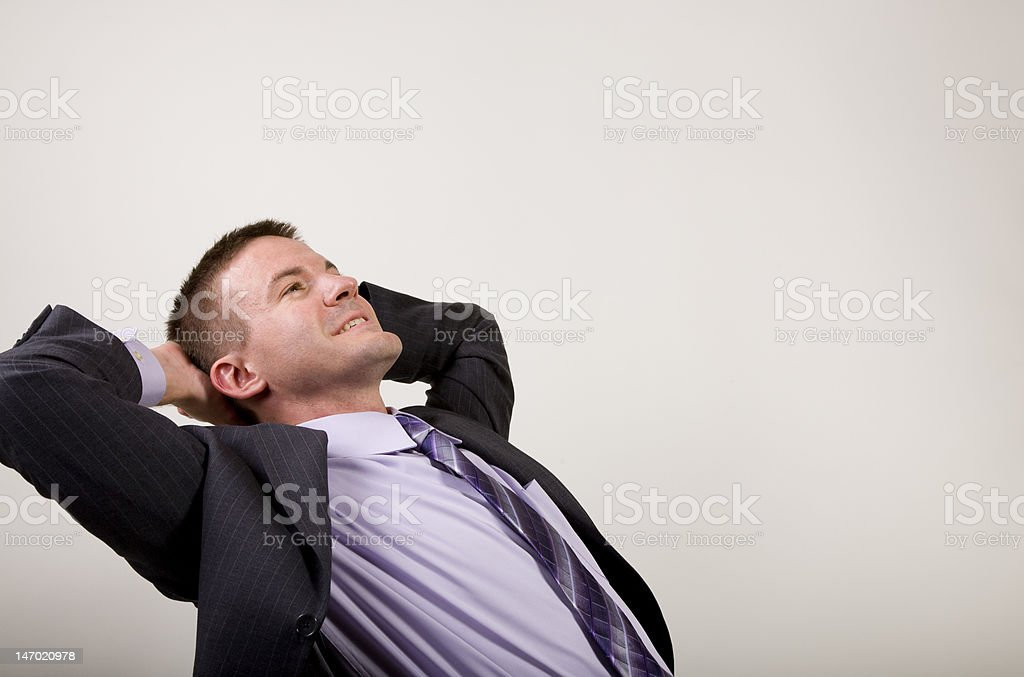 Business Man Reclining royalty-free stock photo