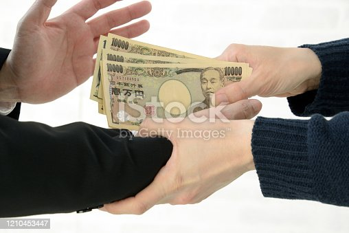 848170878 istock photo Business man refusing acceptance of bribe 1210453447