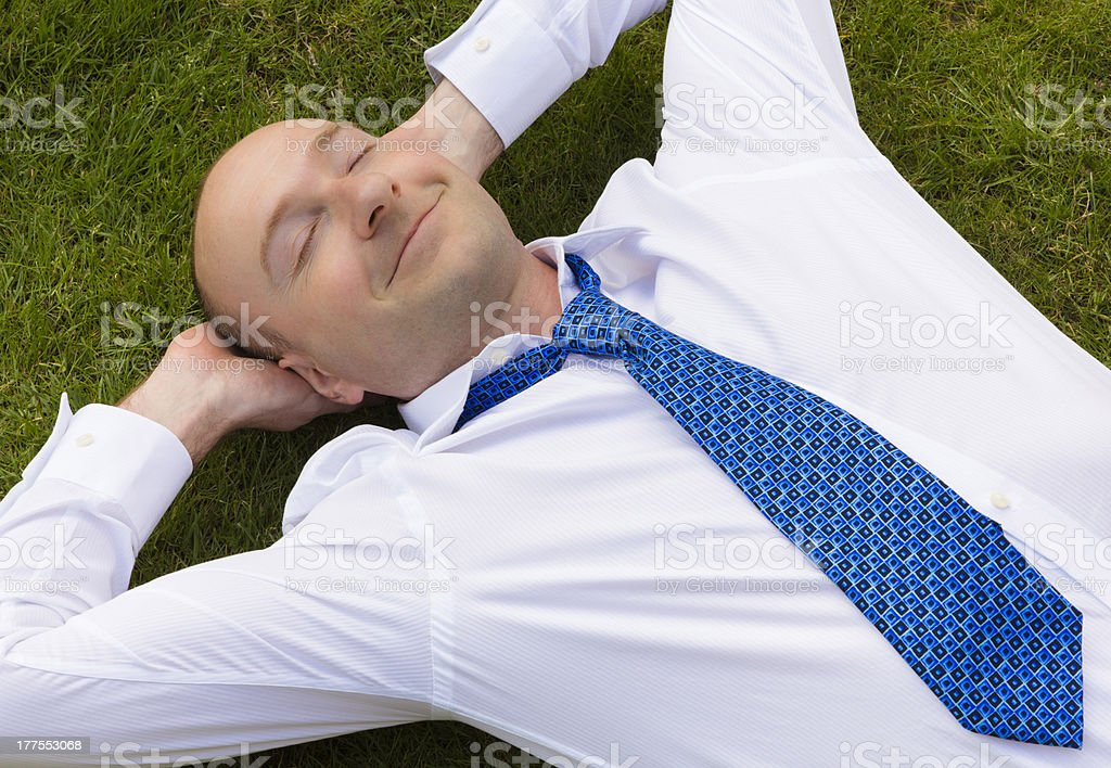 Business man relaxing royalty-free stock photo