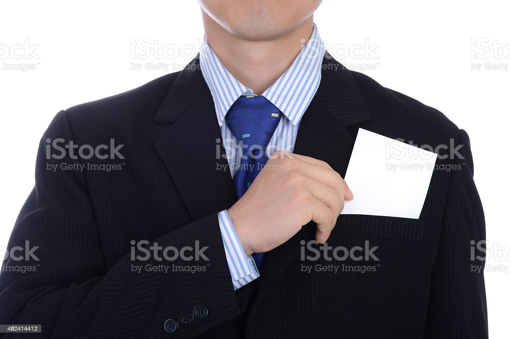 Business man resign job and compensation letter stock photo