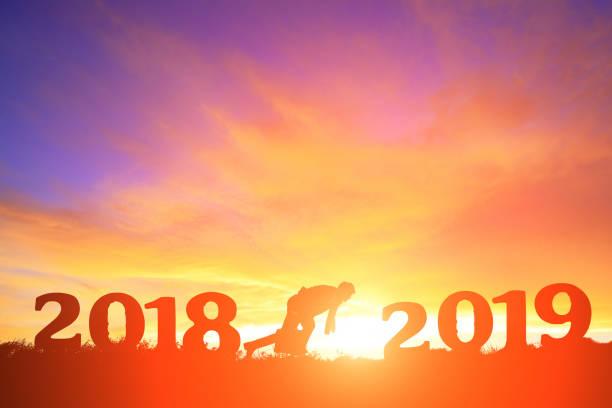 Business-Mann laufen bis 2019 – Foto