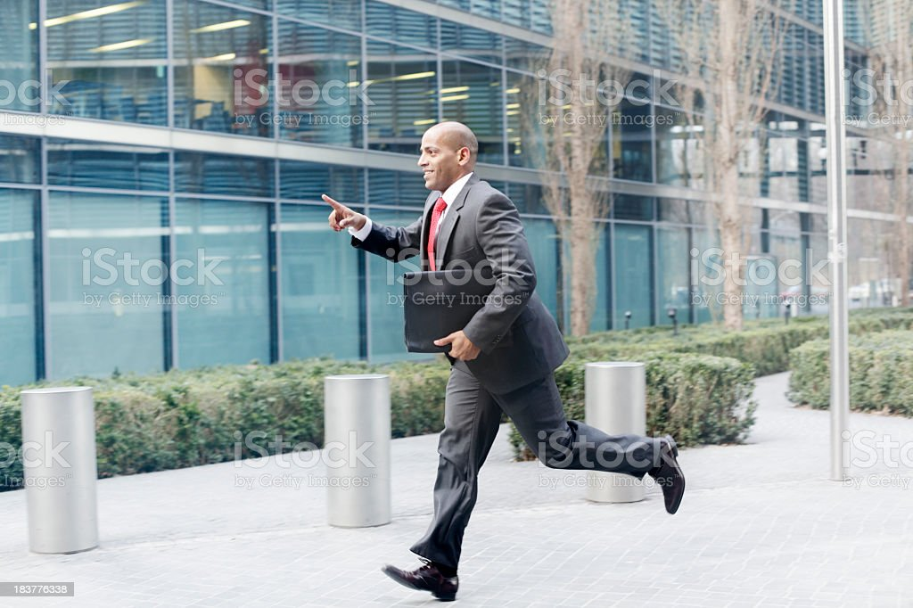 Business Man Running royalty-free stock photo